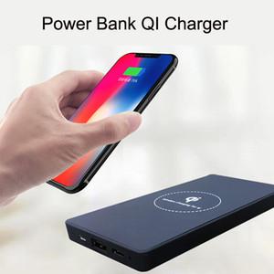 Caricatore mobile di potere del caricatore senza fili di Qi della nuova capacità all'ingrosso 6000mAh di potere 2 in 1 banca di potere mobile per Samsung iPhone X