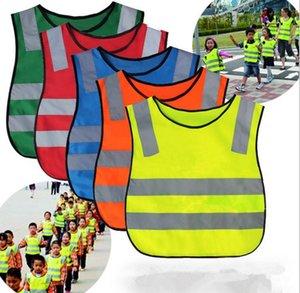 100 pcs Crianças de Alta Visibilidade Woking Colete de Segurança Colete de Trabalho de Tráfego Rodoviário de Trabalho de Segurança Reflexiva Verde Para Crianças Colete de Segurança Jaqueta