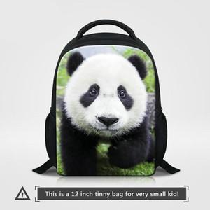 12 Inç Küçük Anaokulu Okul Çantası 0-5 Yaşında Okulöncesi Için Sevimli Panda Hayvan Baskılar Çocuk Sırt Çantası Erkek Bagpacks Kızlar Sırt Çantası