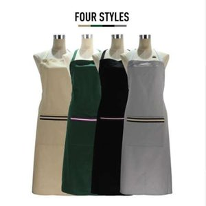 KA009 100% cotton back cross wrap simple apron for men and women apply to the kitchen BBQ
