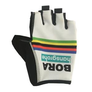 Горячие Продажи 2018 BORA PRO TEAM 2 ДИЗАЙН Велосипедные Велосипедные Перчатки Велосипедный Гель Противоударный Спорт Половина Пальцев Перчатка