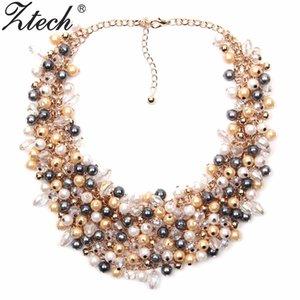 Ztech Jewelry European American Big Temperament Popular Trendy Palace Collar de collar de perlas simulado de la belleza X912