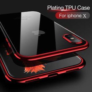 Telefone original case para iphone 8 8 plus x 10 luxo moda transparente tpu macio banhado a volta do telefone móvel shell para iphone 6 6 s 7 7 plus case