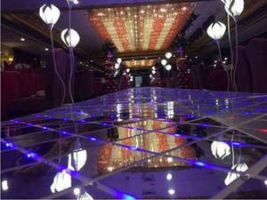1 pz 60 * 60 cm Shine LED Flash Specchio Tappeto Navata Runner Bar Club Wedding T Station Stage Decorazione Puntelli Nuovo Arrivo Spedizione Gratuita