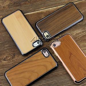 بريميوم الجودة الحقيقية حالة الهاتف الخشب لفون X ، اي فون 8 ، 7 سامسونج S9 زائد الطبيعة المنحوتة خشب الخيزران تصميم نحيف