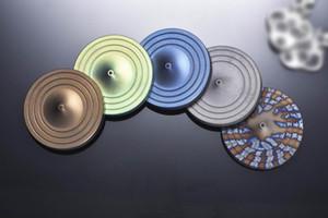 Мг Титана EDC лабиринт галерея пешка коридор убить время игра-головоломка игрушка ручной счетчик Handspinner ж / ударопрочность керамические бусины