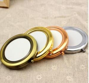Ücretsiz Kargo 70mm Cep Kompakt Ayna Yuvarlak Metal Gümüş Makyaj Aynası Promosyon Hediye şekeri