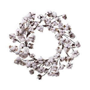 10 pulgadas Country Living Natural algodón Boll Wreath para decoración de casa de campo envío gratis
