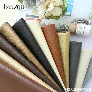2018 50cm * 140cm Niza tela de cuero de PU, tela de imitación de cuero para coser, cuero artificial de PU para material de bolsa de bricolaje,