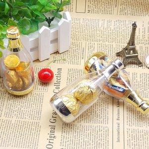 Kunststoff Champagner Flaschen Transparent Candy Boxen für Hochzeit Gefälligkeiten Party Geschenke Baby Shower Souvenirs