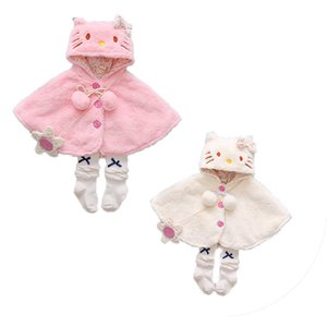Emmababy 2018 Lovely Baby Girls Cat Hooded Cloak Poncho Jacket Outwear Kids Warm Coat Abbigliamento Inverno 0-24M