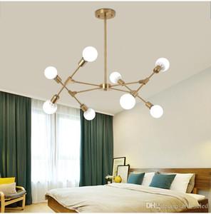 LED creativo Modern Chandelier Lighting modificabili Modo Lampadari Lampada da soffitto Black Gold per illuminazione dell'interno 6/8/10 Heads
