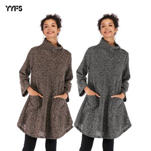 2018 winter new coat European and American long-sleeved high-necked loose large size sweater women's autumn and winter fashion long sleeve c