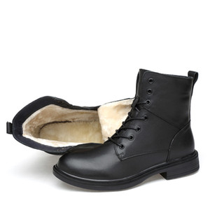 Big size Unisex Men Ankle Boots Casual Men genuine Leather Autumn winter slip on martin Boots military shoes