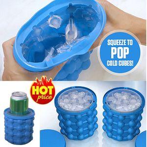 13.2 * 14.1 cm Buz Küp Makinesi Genie Devrimci Uzay Tasarrufu Ice Cube Maker Mutfak Aletleri Şarap Suyu Soğutucular Ücretsiz DHL