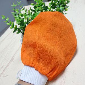 2015 venda quente 20 pçs / lote laranja kessa luva banho turco esfrega luva esfoliante esfrega luva luva de banho toalha de pele luva coreia