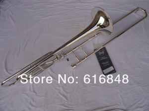 Bach 42BO Silver Plated Brand Good Quality Bb   F Tone Sandhi Tenor Trombone Music Instrument For Students Free Shipping