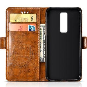 Venta al por mayor Funda de cuero repujado de la vendimia para Leagoo S8 Flip caso para Leagoo S8 pro cubierta suave bolsa de teléfono móvil