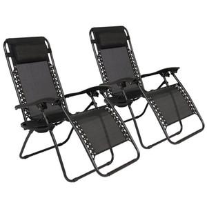 2 chaises pliant Zéro Gravity Lounge + Utilitaire Plateau extérieur Plage Patio