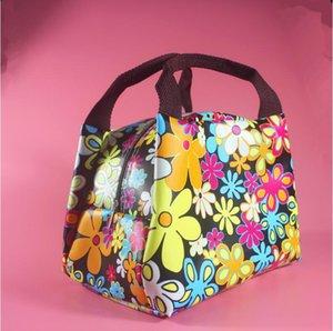 Portátil a prueba de agua mujeres Lunch Bag Lady Food Picnic bolsos multifunción bolsos Lunchbox flores patrón caja de almacenamiento Kids
