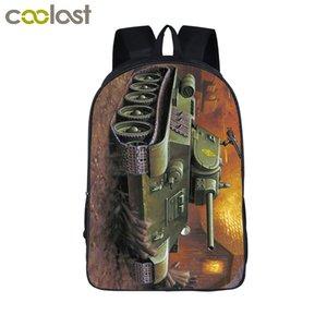 Прохладный бронированный основной боевой танк ноутбук рюкзак мужчины дорожные сумки броня 3D печать Bagpack для подростков девочек мальчиков школьные сумки