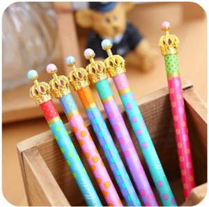 Gel penna Corona sogno puntini puntino Kawaii cancelleria Caneta novità favore del regalo di rifornimenti di scuola 30 pc / Lot liberano