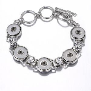braccialetto del bottone per i braccialetti del bottone delle donne di modo di sublimazione regalo diy personalizzato 10pcs / lot di stampa caldo dei gioielli