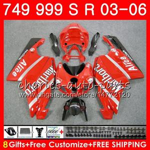 Body For DUCATI 749-999 749S 999S 749 999 03 04 05 06 Bodywork 105HM.18 749 S 999 R 749R 999R 2003 2004 2005 2006 Fairing cowling red kit