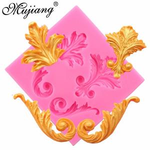 Mujiang Baroque Scroll Relief Silicone Moule Bordure De Gâteau Fondant De Décoration De Gâteau Outils DIY Cookie Candy Gumpaste De Moules