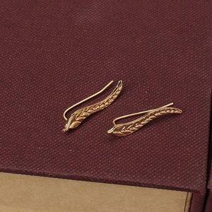 Feuille Boucles d'oreilles pour les femmes d'oreille Or Argent Couleur Boucles d'oreilles bijoux cadeau en gros Livraison gratuite cadeau de Noël