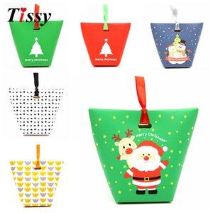 10 ADET Sevimli Şeker Kutusu Kağıt Kutusu Noel Şeker Kutuları Parti Iyilik DIY ÇerezŞeker Çantası veya Bisküvi Aperatif Pişirme Paketi Malzemeleri
