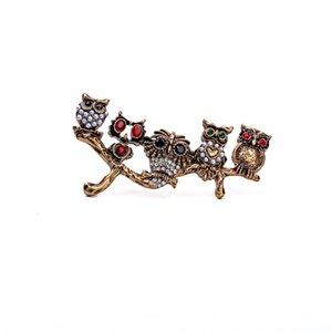 Bijoux Vintage Owl Women Branch Broche Retro bijoux En gros