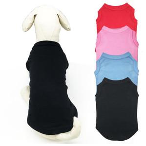 Pet Tişörtleri Yaz Katı Köpek Giysileri Moda Klasik T Shirt Pamuklu Giysiler Köpek Yavrusu Küçük Köpek Giysileri Ucuz Pet Giyim XS-XL a819