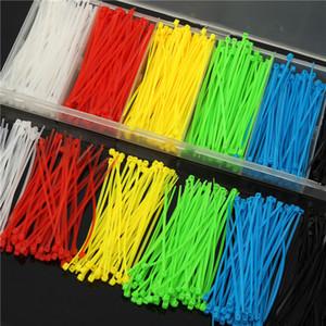 900pcs 100x2mm Chiusure lampo autobloccanti in nylon per cavi 6 colori