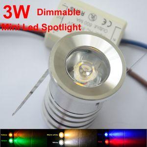 5pcs mini faretto a led 3W 110V 220V led downlight dimmerabile rosso blu verde gioielli armadio lampada libreria spot soffitto soffitto