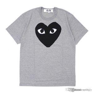 2018ss Grigio COM DES G GARCONS CDG HOLIDAY Cuore Emoji T-shirt nuovi grandi cuori rossi limitano l'espressione amore coppie