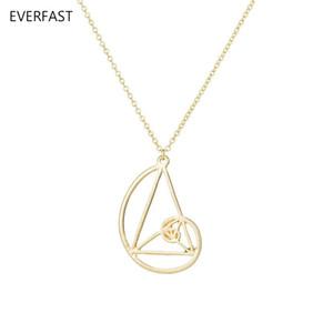 Heißer Verkauf Neue Fibonacci Golden Ratio Halskette Geometrische Anhänger und Halsketten Wissenschaft Schmuck 3 Farbe Für Wählen EFN019-C