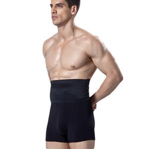 IYUNYI Nuevos Hombres Cintura Alta Talladora Compresión Vientre Adelgaza la ropa interior Pantalones cortos Levantador de algodón Control Bragas
