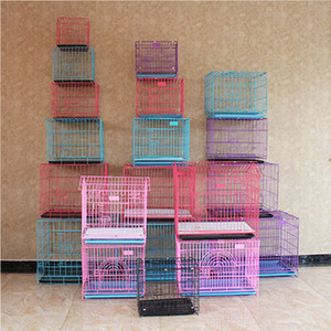 More Size Fashion Sturdy Durable Foldable Pet Wire Dog Cat Cage Suitcase Kennel Playpen With Tray