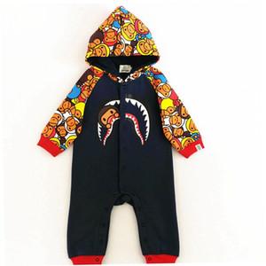 Mode bébé APE hiver combinaisons verall nouveau-né vêtements mode ape roupas garçon filles coton warmming vêtements barboteuses