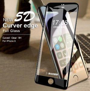 5d curvo borda proteger o vidro para iphone x 8 7 além de protetor de tela na para a apple iphone 6 filme de vidro temperado filme completo