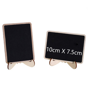 Mini Multi Blackboard with Stand Wooden Chalkboard Message Table Number Wedding Decoration Party Decor Marriage Supplies 10*7.5cm