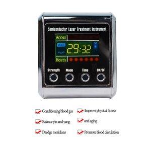 Laser LLLT Физиотерапевтический инструмент для лечения холестериновой гипертонии Церебральный диабет Тромбоз Лечение ринита Часы 650 нм
