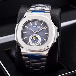 2019 Tomada de fábrica Novo Produto Homens Prata Branco Aço Inoxidável Relógio Multifunções 2813 Relógio Mecânico Automático de Corrente 41mm Safira
