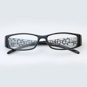 Rahat Asetat Dikdörtgen Okuma Gözlükleri Kare HD Okuma Gözlükleri Unisex Tam Çerçeve Reçine Presbiyopi Göz Okuma Gözlükleri +1.0 - + 4.0