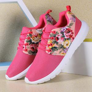 Tênis de corrida super leves para mulheres. turismo de lazer estudante coreano Agam flat shoes Moda estudantes meninas imprimir sapatos de flores.