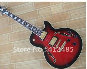 Fabrik Großhandel Günstigen Preis rot 335 JAZZ Semi Hollow E-Gitarre