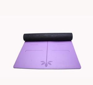 Estera de yoga al por mayor personalizada protección del medio ambiente engrosamiento antideslizante línea del cuerpo caucho natural estera de yoga PU