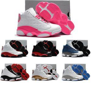 Boy meninas miúdos 13s Pink White Ele obteve a jogo tênis de basquete crianças bebê 13 Preto azuis Flints Playoffs Kid presentes Sneakers