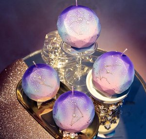 The Twelve Constellations Candles Diamond Birthday Cake Candela 3D Holiday Celebration Candle Gift Party Decorazione della casa